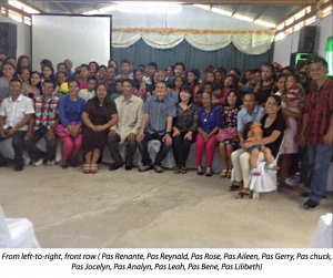 EFC Bogo congregation with Pastors Chua and Jocelyn