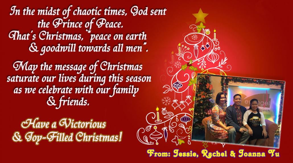 Christmas greetings from the spiritual leaders jecpp christmas greetings pas jessie yu m4hsunfo