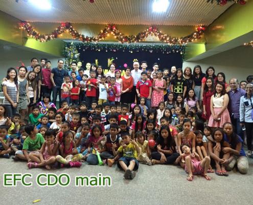 thanksgiving party for children at EFC-CDO